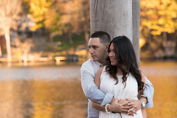 Southbury Connecticut Engagement Session photography with Autumn colors