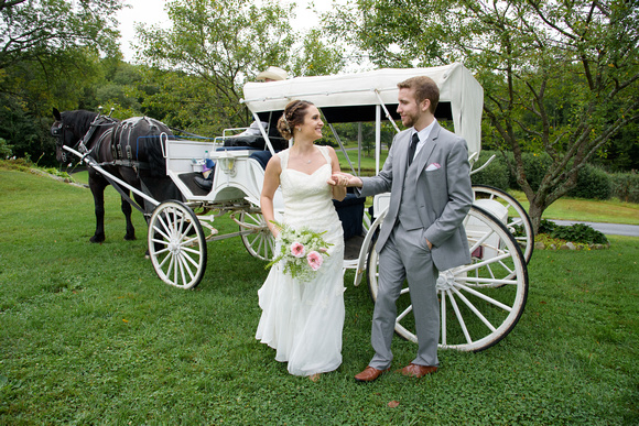 Horse and Carriage Wedding at Wood Acres Farm in Terryville Connecticut
