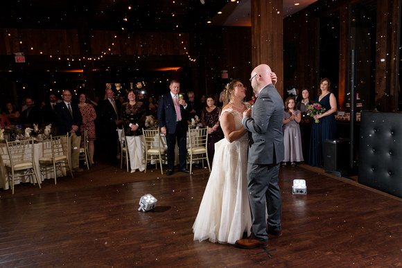 Bride and groom first dance at the Heritage Hotel Wedding Reception in Southbury, Connecticut