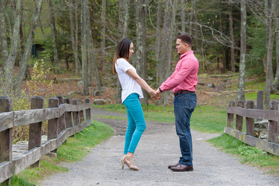 Spring Engagement Session in Southbury, Connecticut at Southford Falls State Park